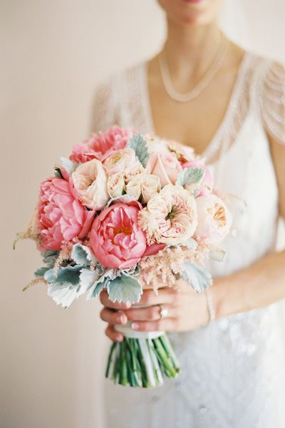 Coral and Ivory Peony Bridal Bouquet | Lani Elias Photography