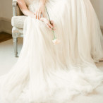 Flowing Wedding Dress by Samuelle Couture | KT Merry