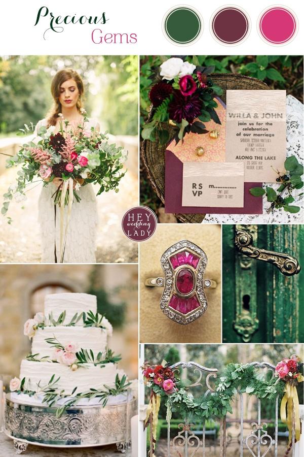 Precious Gems Emerald And Antique Ruby Wedding Inspiration Hey Wedding Lady