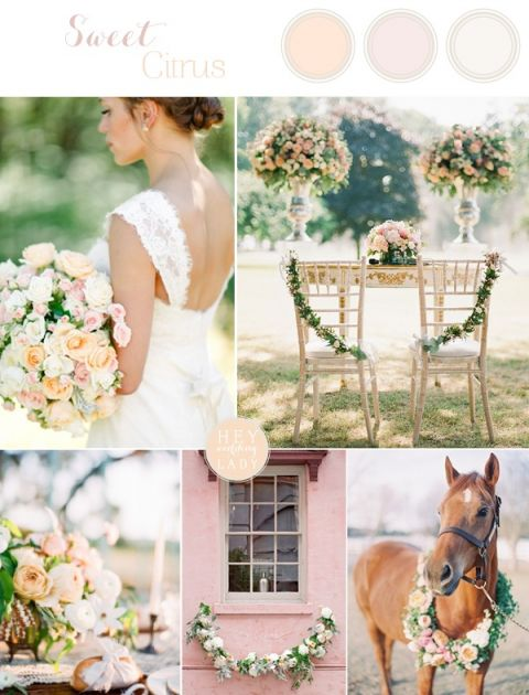 Sweet Citrus Peach and Blush Classic Wedding Inspiration