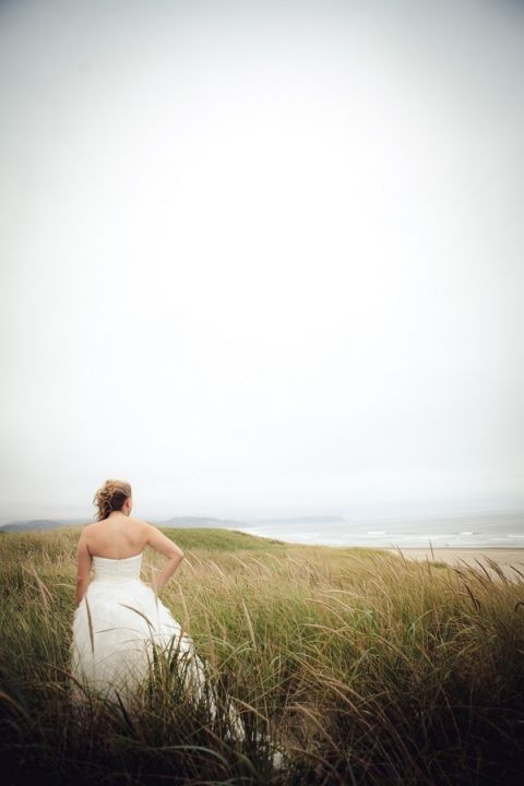 Bridal Portraits in the Beach Dunes | Sikora Photography