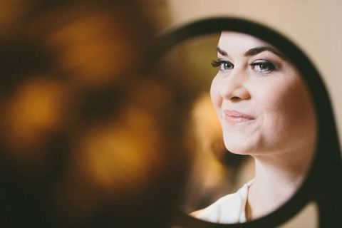 Beautiful Bride Getting Ready | Robert J Hill Photography | See More: http://heyweddinglady.com/simple-and-elegant-grand-bohemian-hotel-wedding-from-robert-j-hill-photography/
