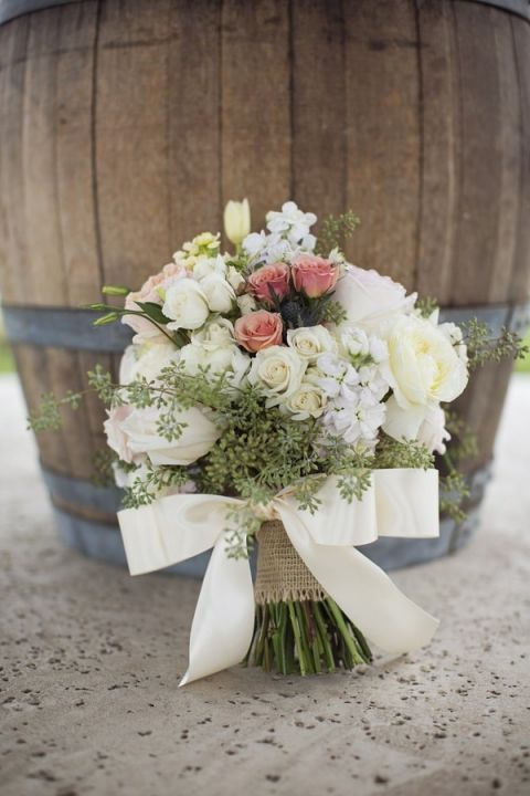 Blush and Ivory Bridal Bouquet | Barefeet Photography | see More: http://heyweddinglady.com/blush-and-ivory-spring-wedding-at-thistle-springs-ranch-from-barefeet-photography/