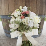 Blush and Ivory Bridal Bouquet | Barefeet Photography | see More: https://heyweddinglady.com/blush-and-ivory-spring-wedding-at-thistle-springs-ranch-from-barefeet-photography/