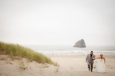 Mist swept beach wedding| Sikora Photography