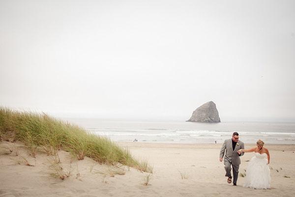 Navy And White Beach Wedding On The Oregon Coast Hey