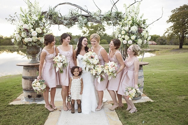 Blush Pink Centerpieces : Blush and ivory spring wedding at thistle springs ranch