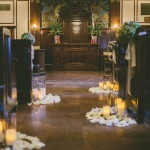 Candlelit Aisle at the Orlando History Center | Robert J Hill Photography | See More: https://heyweddinglady.com/simple-and-elegant-grand-bohemian-hotel-wedding-from-robert-j-hill-photography/
