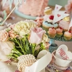 Pastel Pink Rose Bouquet Wrapped in Pearls | Maru Photography | See More: https://heyweddinglady.com/sweeter-than-candy-retro-valentines-day-styled-shoot-in-pastel-hues-from-maru-photography/