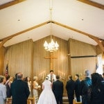 Ceremony at the Yosemite Chapel|Lisa Mallory Photography