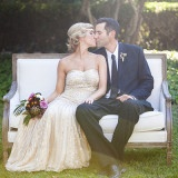 Vintage Gold and Purple Old Hollywood Glam Wedding | Allyson Wiley