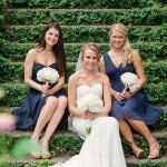 Bridesmaids in French Blue for a Summer Garden Wedding | Jon Sharman Photography