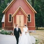 Gorgeous Mountain Chapel Wedding CeremonyCeremony at the Yosemite Chapel|Lisa Mallory Photography