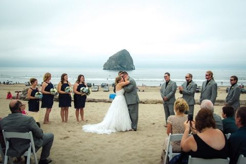 Foggy Oregon Coast Beach Wedding Sikora Photography
