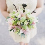 Pink and Green Fiddlehead Fern Bridal Bouquet | Robert J Hill Photography | See More: https://heyweddinglady.com/simple-and-elegant-grand-bohemian-hotel-wedding-from-robert-j-hill-photography/