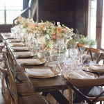 Rustic Elegant Barn Reception | Barefeet Photography | see More: http://heyweddinglady.com/blush-and-ivory-spring-wedding-at-thistle-springs-ranch-from-barefeet-photography/