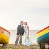 Beach Wedding Portraits | The Story Photography | See More: http://heyweddinglady.com/navy-and-yellow-nautical-chic-destination-wedding-in-paradise/