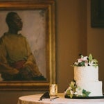 Simple, Elegant Green, White, and Pink Wedding Cake | Robert J Hill Photography | See More: https://heyweddinglady.com/simple-and-elegant-grand-bohemian-hotel-wedding-from-robert-j-hill-photography/