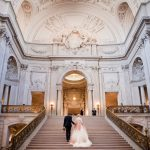 Luxurious Ivory, Black, and Gold Wedding Design Inspired by San Francisco City Hall