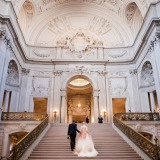 Luxurious Ivory, Black, and Gold Wedding Inspiration based on San Francisco's Glamorous City Hall! See More: https://heyweddinglady.com/gilded-marble-luxurious-ivory-black-gold-wedding-design-inspired-san-francisco-city-hall/