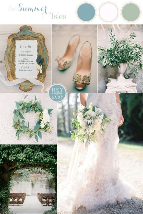 The Summer Isles - Mediterranean Wedding Inspiration in Olive, Patina, and Jade | See More: https://heyweddinglady.com/the-summer-isles-mediterranean-wedding-inspiration-in-olive-patina-and-jade/