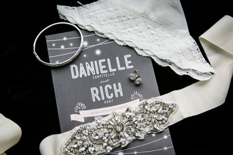Sparkling Wedding Invitations and Bridal Accessories | Kelly Williams, Photographer | https://heyweddinglady.com/romantic-rustic-urban-wedding-at-brooklyn-winery/