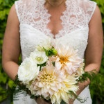 Lush Pastel Dahlia Bridal Bouquet | Kelly Williams, Photographer | http://heyweddinglady.com/romantic-rustic-urban-wedding-at-brooklyn-winery/