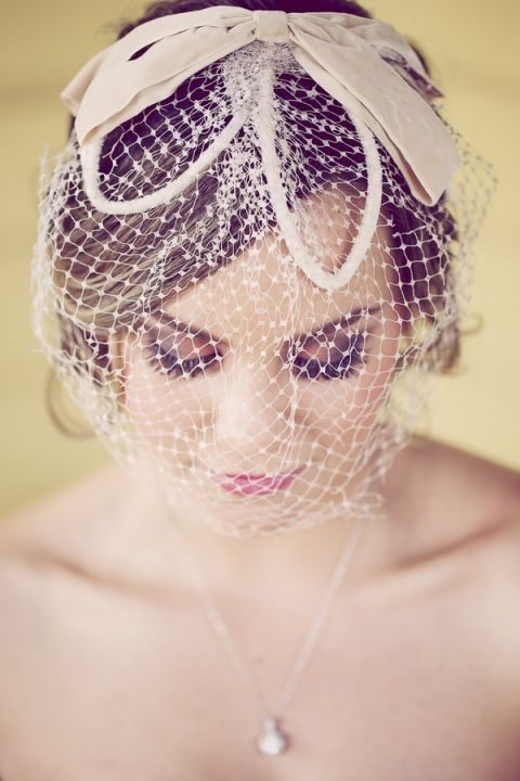 Delicate Blusher Veil with Bow Detail | Ashley DePencier Photography | See More: https://heyweddinglady.com/country-romance-pastel-spring-wedding-inspiration-from-ashley-depencier-photography/