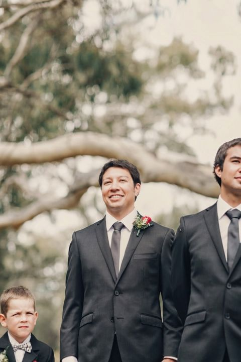 The perfect look on a groom's face! | Oli Sansom Photography | See More! http://heyweddinglady.com/natural-beauty-riverside-australian-wedding-by-oli-sansom-photography/