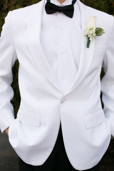 A Classic White Tie Look for a Groom | StarNoir Photography | See More! https://heyweddinglady.com/classic-french-wedding-style-in-black-and-white/