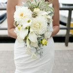 Elegant Ivory Cascade Bridal Bouquet | Tikko Weddings |See More: https://heyweddinglady.com/classic-and-glamorous-blush-and-gold-socal-wedding-from-tikko-weddings/