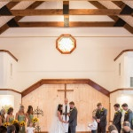Sweet, Southern Ceremony in the Mountainside Chapel at Chota Falls | Cariad Photography | See More: http://heyweddinglady.com/spring-green-southern-wedding-with-a-travel-theme/