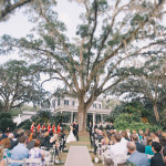 Historical Southern Manor Ceremony | Black and Hue Photography | See more: https://heyweddinglady.com/cherry-red-black-and-ivory-rustic-chic-wedding-from-black-and-hue-photography/