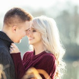 Joyful and Beautiful Engagement Portraits | L'Estelle Photography | See more! http://heyweddinglady.com/enchanted-winter-woods-engagement-from-lestelle-photography/