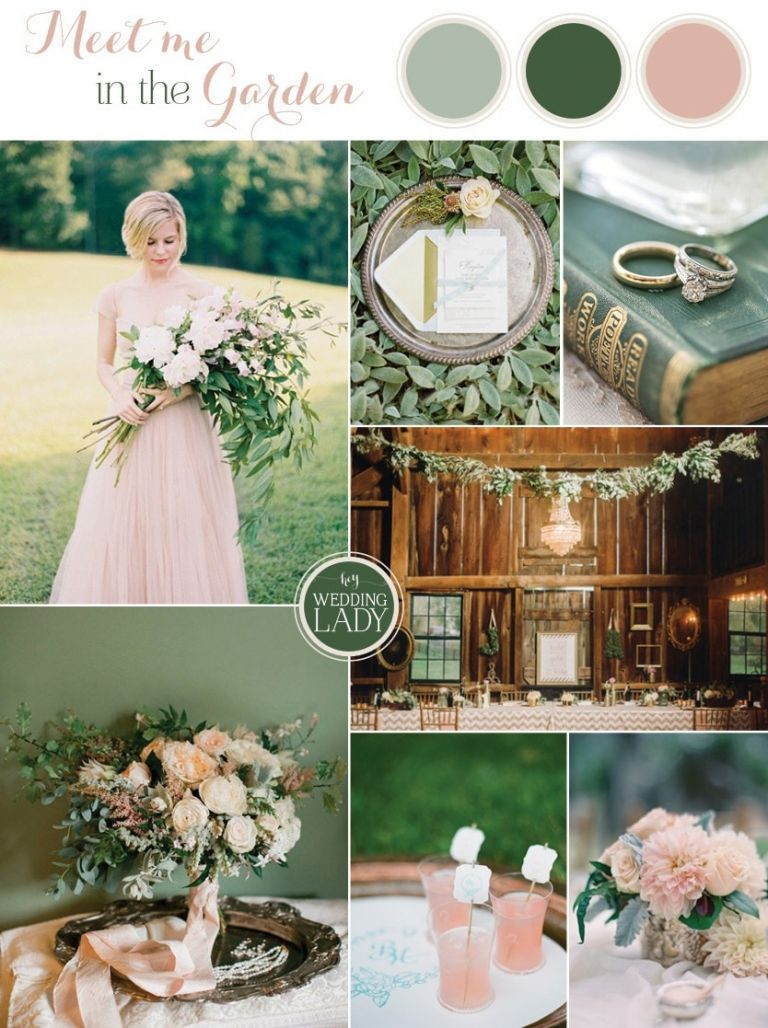 Down the Garden Path - Forest Green and Blushing Peach Wedding Inspiration | See More! https://heyweddinglady.com/down-the-garden-path-a-forest-green-and-peach-wedding/