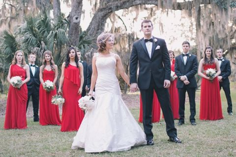 Cherry Red, Black, and Ivory Rustic Chic Wedding from Black and ...