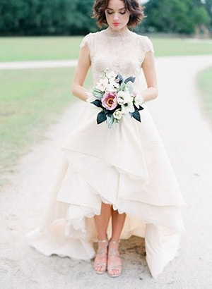 The Perfect Wedding: handkerchief bottom wedding dress