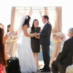A Romantic Blush Wedding Ceremony Overlooking Malibu Wine Country | Luxury Estate Weddings and Events | See more! http://heyweddinglady.com/tuscan-inspired-hilltop-villa-wedding-in-malibu/