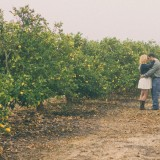 Lemon Orchard Engagement Portraits | Alexandra Wallace Photography | See more: http://heyweddinglady.com/sweet-lemon-grove-engagement-session-alexandra-wallace-photography/