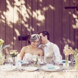Intimate Barn Wedding Decor | Ashley DePencier Photography | See More: http://heyweddinglady.com/country-romance-pastel-spring-wedding-inspiration-from-ashley-depencier-photography/