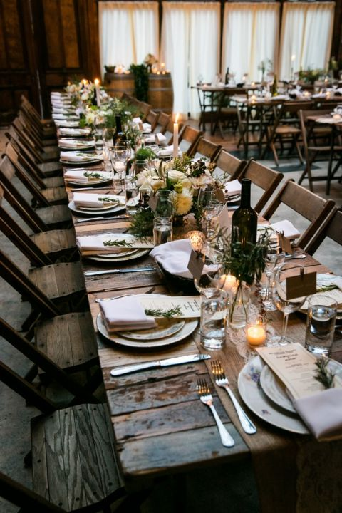 An Intimate Family Style Wedding Reception At Brooklyn Winery Kelly Williams Photographer