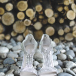 Glam and Modern Silver Wedding Shoes | Tonie Christine Photography | See More! https://heyweddinglady.com/fresh-and-chic-modern-rustic-washington-wedding/