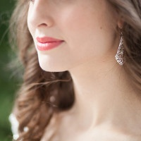 Berry Lips for a Summer Wedding with Silver Filigree Earrings | Craig Hodge Photography | See More! https://heyweddinglady.com/elegant-simplicity-in-royal-purple-from-craig-hodges-photography/