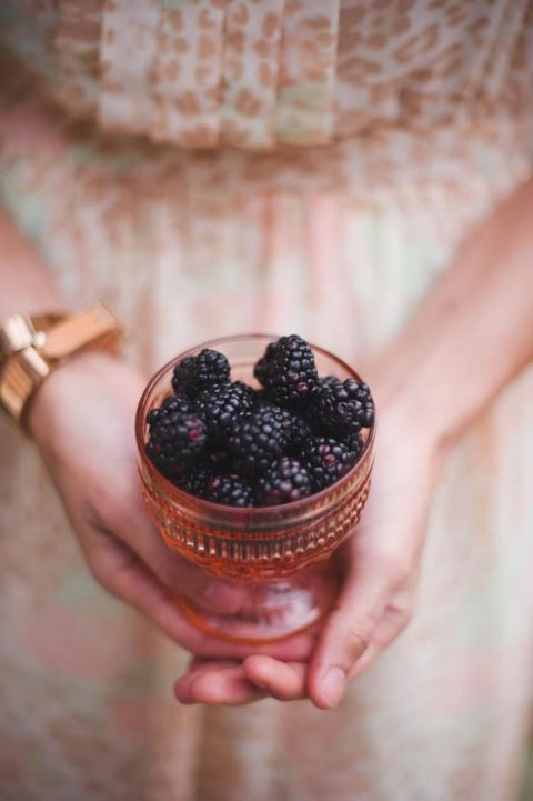Peach and Blackberries | Tonie Christine Photography | See More! http://heyweddinglady.com/vintage-spring-anthropologie-inspired-bridal-shower/