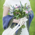 Blue and Purple Spring Wedding Bouquet | Plenty to Declare Photography | See More! https://heyweddinglady.com/romantic-english-bohemian-bridal-shoot-from-plenty-to-declare-photography/