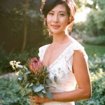 A King Protea Bouquet for a relaxed California chic wine country wedding | Tikko Weddings | See More! https://heyweddinglady.com/elegant-and-colorful-wine-country-wedding/
