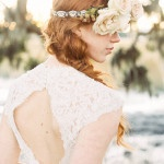 A Keyhole Back for a Romantic Lace Wedding Dress | JoPhoto | See More! http://heyweddinglady.com/dreamy-southern-cotton-field-styled-bridal-shoot/