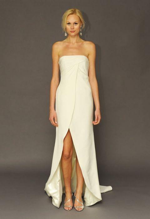 White Silk Wedding Dress 32 Popular Crisp Tulip Wedding Dress