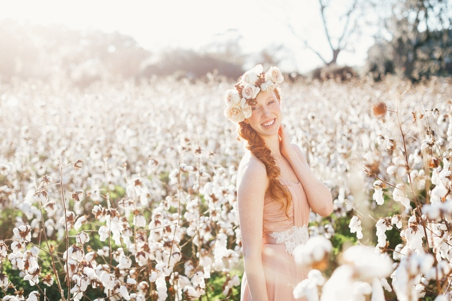 Dreamy Southern Cotton Field Styled Bridal Shoot Hey