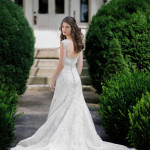 Swooning over this sparkling silver and lace wedding dress | Craig Hodge Photography | See More! http://heyweddinglady.com/elegant-simplicity-in-royal-purple-from-craig-hodges-photography/